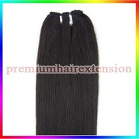 "14""16""18""20""22""24""26"" machinie weft hair extensions remy human hair extensions weft # 1B natural black kinda brown 100g/pc 4pcs"