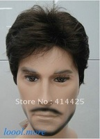 Hot sell   Short Curly Menfolk Man Men Wig Daily Wear Hair Wigs