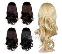 "Free Shipping New Women Girl Long 24"" Half Head 1/2 Head Body Wavy Reversible Wig Hair Piece"