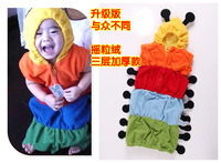 Good Qualiy children long t-shirt + care belly pants 2-piece Baby Suit free shipping