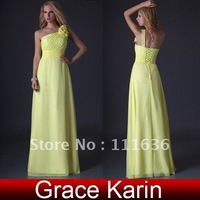Freeshipping Grace karin Stock Full-Length One shoulder graduation homecoming dress evening long 8 Size CL3433