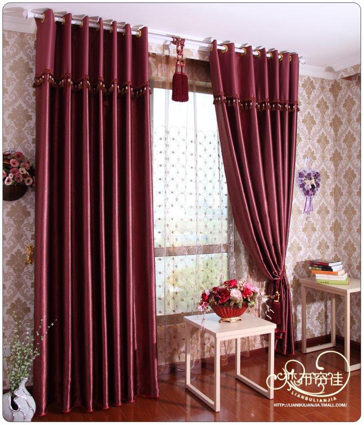 Achetez en gros tissu de rideau en satin en ligne des for Rideau pour chambre a coucher