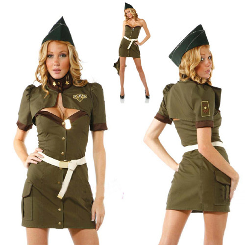 Fashion female police uniform Army Green female police clothes ...