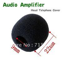 "FREE SHIPPING 50pcs/LOT Audio Amplifier Head TelephoneCover Windscreen Foam Cover,Inside Diameter: 9mm (about 0.35"")"