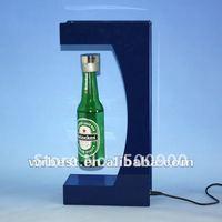 Floating advertising promotional LED bottle display