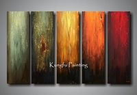 100% hand painted discount oil painting framed 5 piece canvas art decoration home unique gift high quality