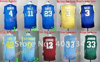 Free shipping-5pcs/lot US College Basketball Team color jerseys,High school basketball Jerseys