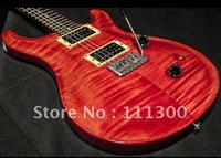 free shipping  Custom Scarlet Red Moons Electric Guitar