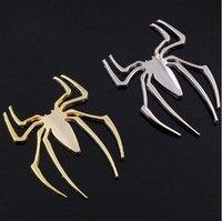 NEW Fashion Cool Metal 3D Car Chrome Badge Emblem Sticker Spider Golden V02