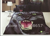 black panther animal prints discount duvet cover set 4pc for cotton bedlinen Full/Queen comforter bedding sets 4pc home textile