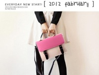 Free shipping! High quality candy color and pu leather fashion handbag,tote shoulder bag for women