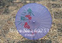 lilac Large size Flowers and birds  umbrella gift umbrella oiled paper umbrella
