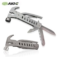 STANDARD SHIPPING COST Multifunctional Tool Outdoor Multi-functional Combination Tool Stainless Steel Hammer Portable Tool Sets