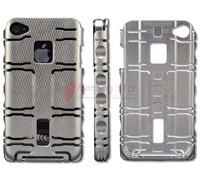 Silver ALUMINUM SUPERIOR ALLOY METAL BACK HARD CASE COVER FRAME Skin FOR IPHONE 4 4S  Fast Shipping