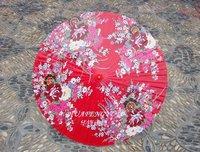 ROSE RED Hand-paintedpicture porcelain umbrella  ancient costume umbrella bride umbrella