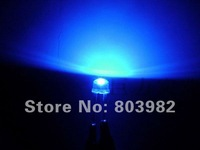 Ultra bright 8mm led Blue 0.5W straw hat led diode 3.0-3.5V,30LM(CE&Rosh)500PCS