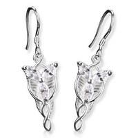 Bahamut Lord of the Rings Arwen Evenstar Silver Earrings  LOTR 925 Sterling Silver Drop Earrings
