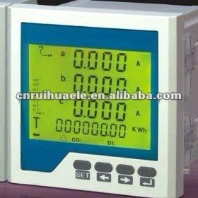 whole sales 3phase 96x96 LCD display multifunction ethernet digital power meter