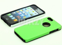 14pcs/lot Cool Aluminum Case, with Silicon Soft Edge, for i P 5G, Whole Hot Sale