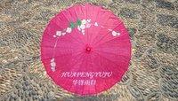 Rose red wedding decoration Technology umbrella