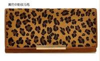 4131-1  New arrival designer leather+horse hair wallet,hotsale fashion cow leather purse,wholesale&retail