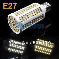 E27 9W 168pcs SMD 3528 Led Bulb Lamp Corn Light 840lm White/Warm White Led Lighting 200-230V Free Shipping 3435