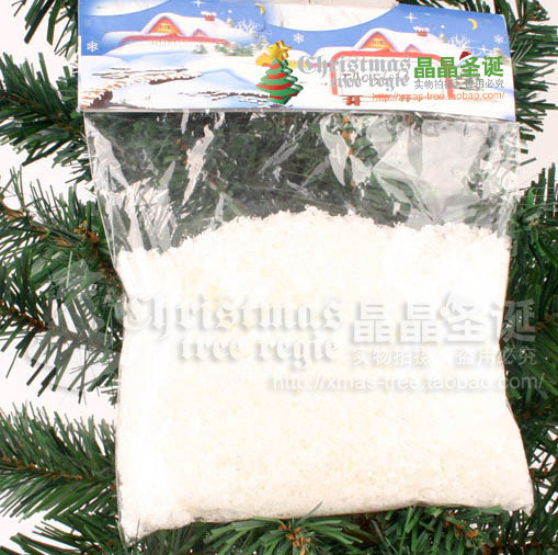 Christmas tree decoration Christmas decoration snow powder 1 packaging 50g Christmas decoration(China (Mainland))