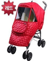 Baby stroller thermal cover car cover red