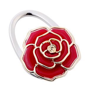 new arrival alloy flower foldable purse hangers/bag holder/handbag hooks,18pcs/lot mix colors wholesale(China (Mainland))