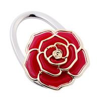 new arrival alloy flower foldable purse hangers/bag holder/handbag hooks,18pcs/lot mix colors  wholesale