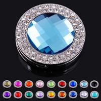 Fashion crystal alloy purse hangers/bag hook/bag holders,20pcs/lot mix colors ,18 colors,wholesale&retail
