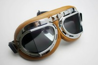 Wholesale Aviator Pilot Cruiser Motorcycle Scooter ATV Goggle Eyewear T08Y Brown Lens free shipping