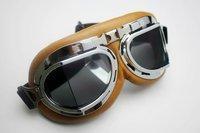 Wholesale Aviator Pilot Cruiser Motorcycle Scooter ATV Goggle Eyewear T08Y Brown Lens free shipping