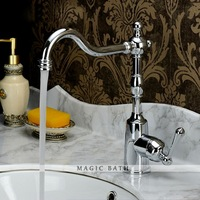 Celerity  Single Hole Solid Brass Kitchen Faucet with Swivel Spout - Chrome  Free shipping