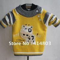 Свитер для девочек 3pcs/2 Colors Kids Knitted Striped Cardigan Sweater, Girls/ Boys Crochet Coats Outerwear Baby Clothing