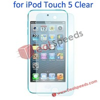 Free Shipping DHL/EMS/UPS 100 PCS/Lot For iPod Touch 5 Screen Protector Clear Front LCD Screen Protector for iPod Touch 5
