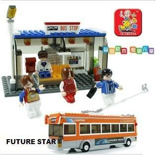 Freeshipping! SLuban Building Block LUXURY BUS 3D Jigsaw Puzzle Education-assembling toys for kids 465PCS M38-B0322