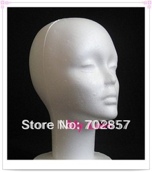 Mannequin Display Foam Female Mannequin Head white For Hat,Hair,Headset,Microphone Display(China (Mainland))