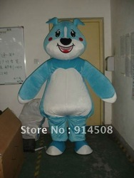 Adult Size Lovely Big Fat Blue Dog Mascot Costumes Halloween Party Animal Cartoon Fancy Dress Suit Free Shipping(China (Mainland))