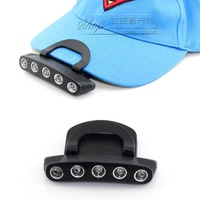 2012 adjustable clip cap lamp 5 led adjustable clip cap lamp fishing lamp cap light 20