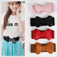 Free shipping strap female bow cummerbund wide belt for women 68cm-95cm
