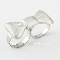 Free Shipping! New Arrival Fashion Tow Finger Rings,double rings