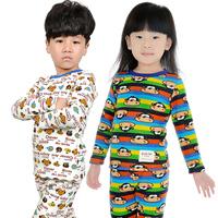 Children's clothing male child female child 2012 autumn and winter plus velvet thickening child thermal underwear set