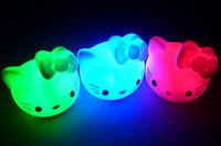 colorful small night light child toy carpet Colorful Cartoon Cat LED night light /night lamp baby hello kitty 5pcs/lot
