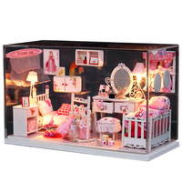 free shipping My dream house Diy model wooden lamp assembling toys personalized girl women christmas gift birthday gift