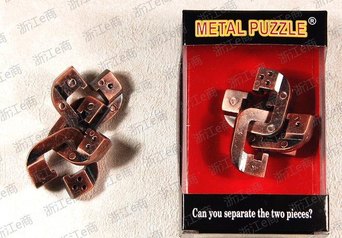 New Arrived IQ Puzzle Metal Brain Teaser Puzzle toys Zinc alloy Game(China (Mainland))