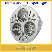 5pcs/lot MR16 3W AC/DC 12V High Power Pure White LED Spot Light Downlight with 3 Lamp Bulbs for Home Use, Free Shipping