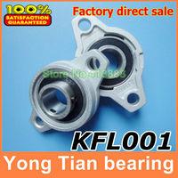 12 mm caliber Zinc Alloy Miniature Bearings pedestal KFL001 UCFL001 FL001 diamond flange bearings pedestal