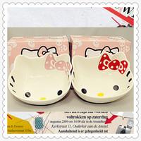 Hello kitty ceramic bowl set rice bowl cartoon bowl ceramic tableware japanese style 1