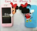 2012 HOT SALE ,Cute 3D Mickey Mouse Silicone Case for iPhone 5 5g,5pcs/lot free shipping